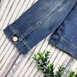 Chico's Jackets & Coats - Chico's Platinum Denim Rhinestone Detail Jacket